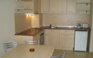 keuken in het Severina appartementen